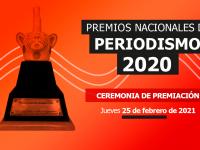 Este 25 de febrero conoce a los ganadores de los Premios Nacionales 2020