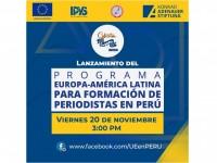 Este viernes 20 participa del programa de capacitación online a periodistas peruanos