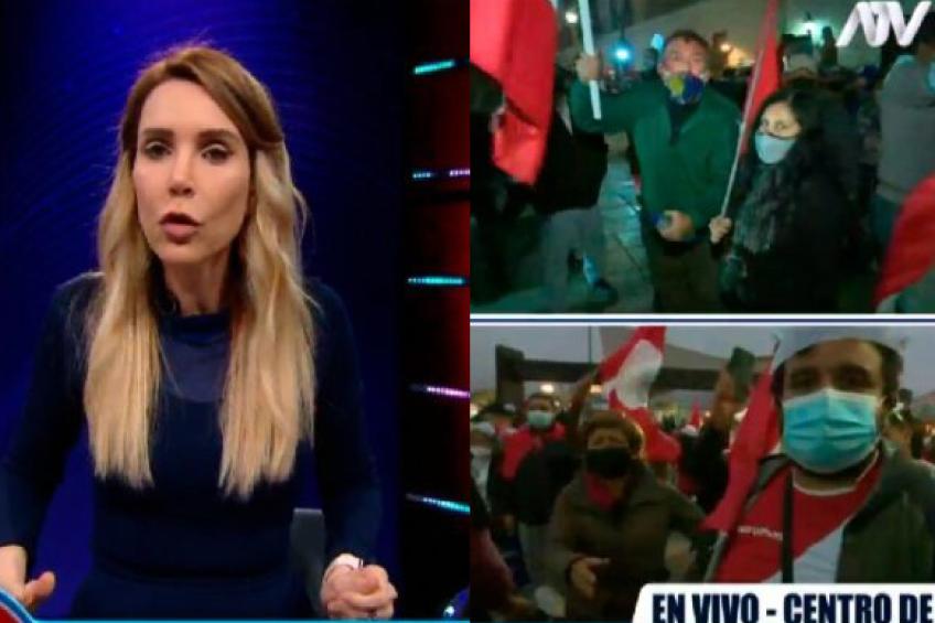 Perú: equipos periodísticos del canal ATV sufrieron acoso, agresiones e insultos en violenta manifestación