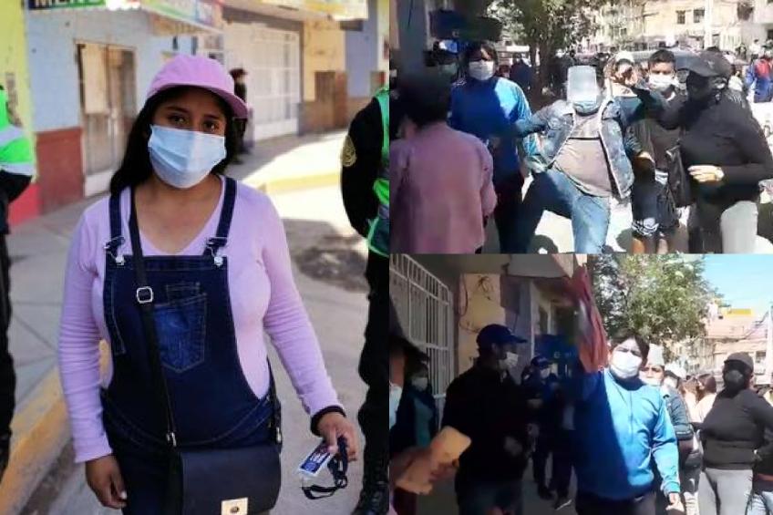 Perú: familiares de investigados por la policía agreden a periodista