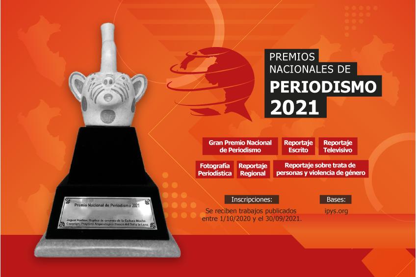 Perú: IPYS lanza convocatoria para la nueva edición de los Premios Nacionales de Periodismo