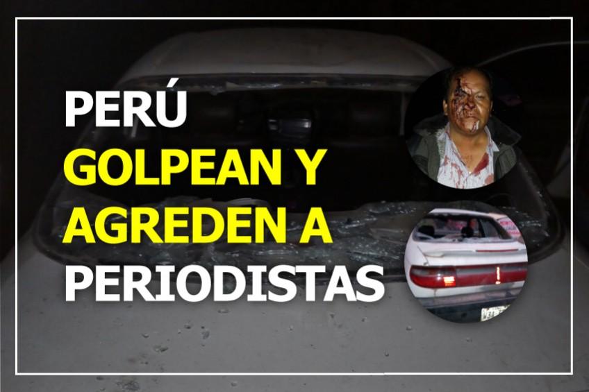 Perú: secuestran y golpean a periodistas