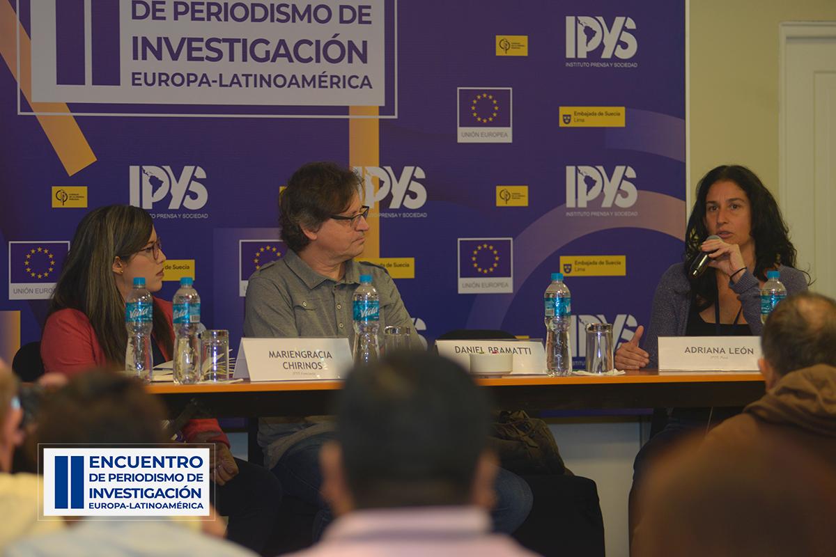 Primera mesa del segundo día del encuentro Europa-Latinoamérica de Periodismo de Investigación